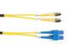 1m (3.2ft) STSC YL OS2 SM Fiber Patch Cable INDR Zip OFNR -- FOSM-001M-STSC - Image
