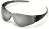 Crews CK2 Safety Glasses with Smoke Temples and Silver -- CK217