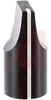 Knob;Dia 0.5in;Shaft Sz 0.125in;Panel;Top & Side Saw Cut;Black Gloss;Aluminum -- 70126005