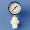 Miniature Thermoplastic Diaphragm Seal/Gauge Guard -- GGMEB1-PP -- View Larger Image