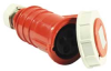 Pin And Sleeve Connector,100A,Red -- 4HD01
