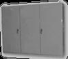 Painted Steel NEMA 12 3- Door Multi-Door Freestanding Enclos -- E-86M3E20