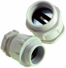 Polystyrene Strain Relief Connectors for Flat & Festoon Cable with PG Thread -- SKINDICHT® SVFK