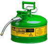 3 Gallon Type II Steel Flammable Liquid Safety Can -- CAN10728-GREEN