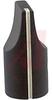 Knob;Dia 0.5in;Shaft Sz 0.25in;Panel;Top & Side Saw Cut;Black Matte;Aluminum -- 70126003
