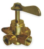 Shut Off Valve,Four Way,3/8 In,Brass -- 1VRB9
