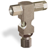 "(Formerly B1630-5-TP-SG), Inverted Angle Small Sight Feed Valve, Solid Gasket, 1/8"" Female NPT Inlet, 1/4"" OD Tube Outlet, Tamperproof -- B1628-315B2TW -- View Larger Image"