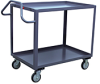 2 Shelf 1200 lb Capacity Service Cart With Ergonomic Handles -- Model ES - Image