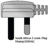 South Africa - India 2 Conductor Plug -- WS - 016-1