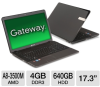 Gateway NV75S02u LX.WXW02.001 Notebook PC - AMD A8-3500M Qua -- LX.WXW02.001