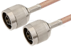 N Male to N Male Cable 24 Inch Length Using PE-P195 Coax -- PE33377-24 -Image