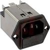 Filter, AC Line; 1; 125/250 VAC; 10 A; 0.5 mA (Max.) @ 250 V/60 Hz; Black -- 70080617 - Image