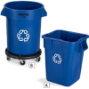 RUBBERMAID BRUTE Bulk Recycling Collectors -- 4501618