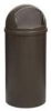 Rubbermaid Marshal® Classic 25-Gallon Container - 8170-88 (Brown) -- RM-8170-88BRO