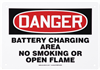 Danger Battery Charging Area No Smoking or Open Flame Sign 10