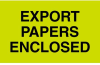 500 3in x 5in Export Papers Enclosed Labels Item# YDL2401 -- YDL2401