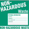 Hazardous Waste Labels - Label Non-Hazardous Waste -- 121159