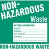 Hazardous Waste Labels - Label Non-Hazardous Waste -- 121159