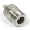 N Female (Jack) to QMA Female (Jack) Adapter, 1.25 VSWR -- SM5570 - Image
