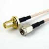SMA Male to SMA Female Bulkhead Cable RG-316 Coax in 24 Inch and RoHS -- FMC0212315LF-24 -Image