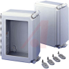 ENCLOSURE;NEMA 4X;WINDOW CVR/QR;12.00X10.00X6.00;FIBERGLASS -- 70066961