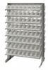 Bins & Systems - Clear-View Bins - Economy Shelf Bins - Sloped Shelving - Double Sided Pick Racks - QPRD-101CL - Image