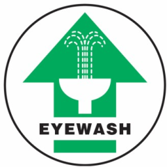 Eyewash sign from Grainger