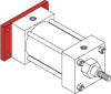 Series MN Aluminum Pneumatic Cylinder - Model MN32 NFPA Style MF2 -- Blind Rectangular Flange Mounting