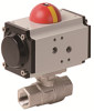 Pneumatically Actuated 2 PC Stainless Steel Ball Valve -- PHS Series