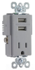 Combination Switch/Receptacle -- TR5261USB-GRY -- View Larger Image