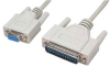 6' DB9 Female to DB25 Male Null Modem Cable -- 85-205