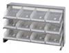 Bins & Systems - Clear-View Bins - Economy Shelf Bins - Sloped Shelving - Bench Racks - QPRHA-107CL - Image