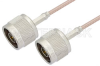 N Male to N Male Cable 48 Inch Length Using RG316-DS Coax -- PE33288-48 -Image