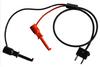 Stacking Double Banana Plug Test Cable RG58C/U to XH Macro-Hooks -- 1050XH -Image