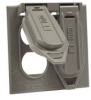 HUBBELL WEATHERPROOF COVER DOUBLE GANG DUPLEX RECEPTACLE GRAY -- IBI459326