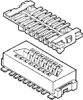 Board and Wire Connectors, 1.0 mm (0.039 in.), Conan™, Gender=Plug -- 10118744-1133109LF - Image