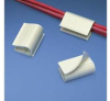 Cable Clip Adhesive White PVC -- 07498358045-1