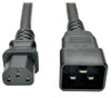 Heavy-Duty Power Cord for PDU, 15A, 12 AWG (IEC-320-C13 to IEC-320-C20), 3 ft. (1 m) -- P032-003