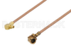UMCX Plug to MMCX Plug Right Angle Cable 6 Inch Length Using RG178 Coax -- PE39078-6 -Image