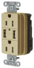 Combination Switch/Receptacle -- SNAP15USBI - Image