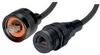 IP68 Ruggedized Cat5e Cable, RJ45, Plug to Jack, ANOD Finish w/ FR-TPE Cable & Dust Caps, 2.0m -- TRD8RG6-02 -Image