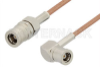 SMB Plug to SMB Plug Right Angle Cable 60 Inch Length Using RG178 Coax -- PE33356-60 -Image