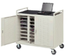 Bretford Laptop Storage and Recharge Cabinet LAP24EFR-GM -- LAP24EFR-GM