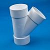 White PVC Wye -- 31013