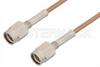 SSMA Male to SSMA Male Cable 24 Inch Length Using RG178 Coax, RoHS -- PE33762LF-24 -Image