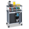 Mobile Beverage Cart, 33-1/2w x 21-3/4d x 43h, Black -- 8964BL