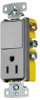 Combination Switch/Receptacle -- RCD108GY - Image