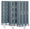 HALLOWELL Heavy-Duty Ventilated Lockers -- 5784895