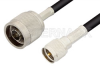 N Male to Mini UHF Male Cable 48 Inch Length Using RG58 Coax -- PE3282-48 -Image