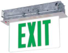 Exit Sign,LED,2 Side,Green Letters -- 6CGN8